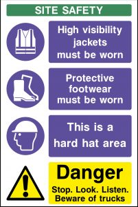 building site health and safety signs
